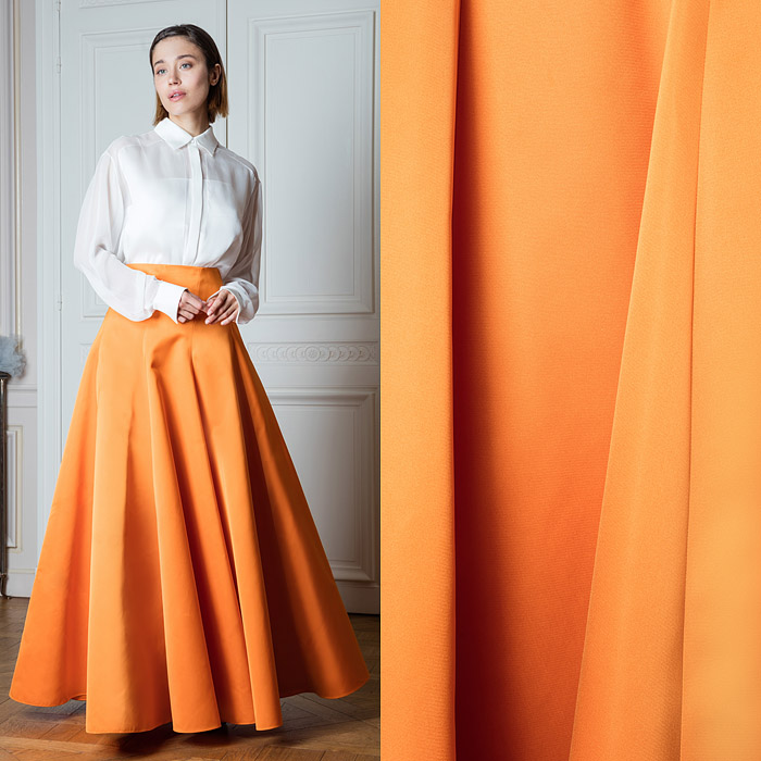 Orange full-length skirt