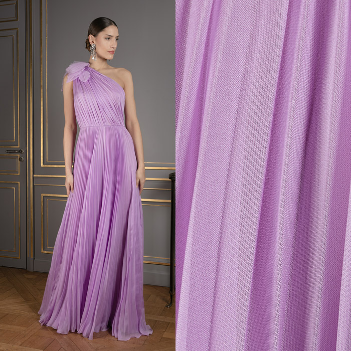 One-shoulder lilac dress