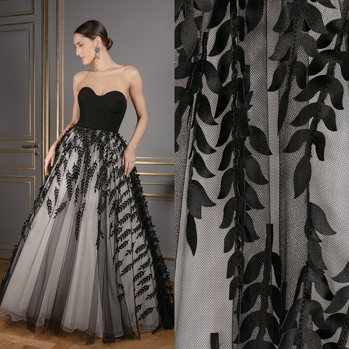Black and grey princess gown
