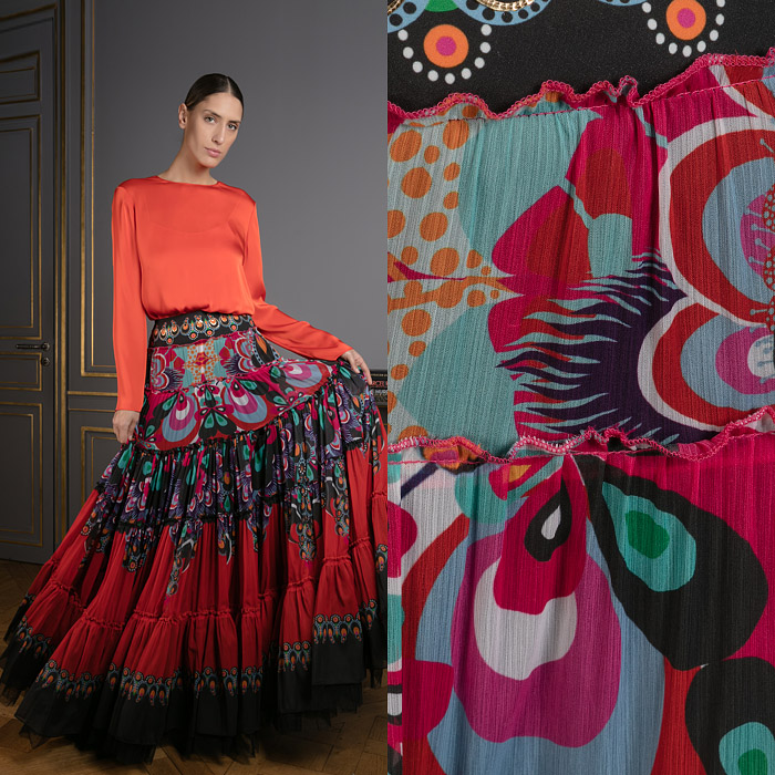 Exclusive flamenco inspired skirt