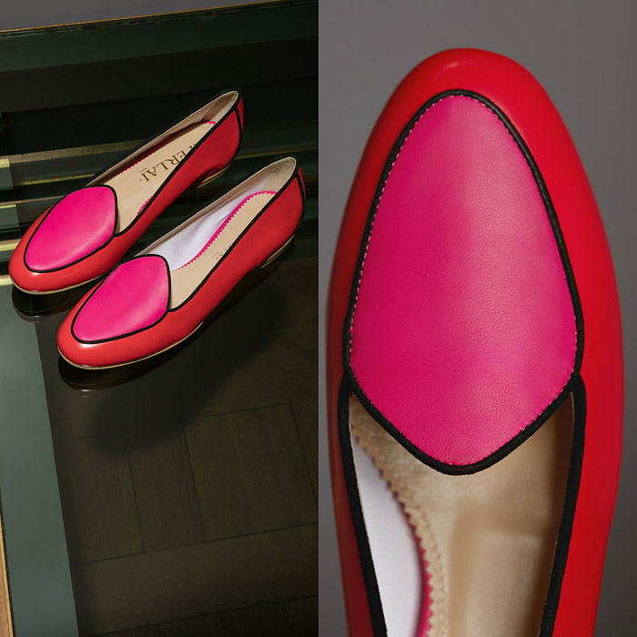 Red ballerina shoes