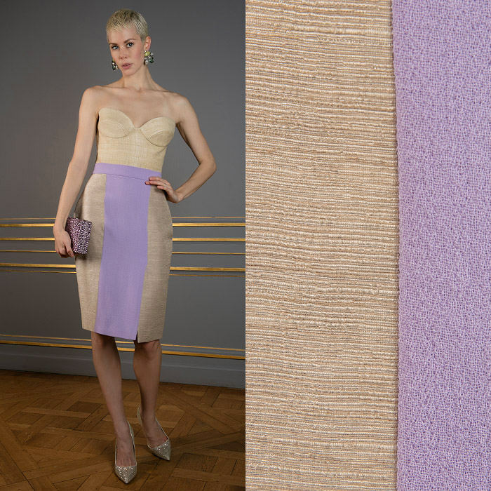 Tight lilac and beige skirt