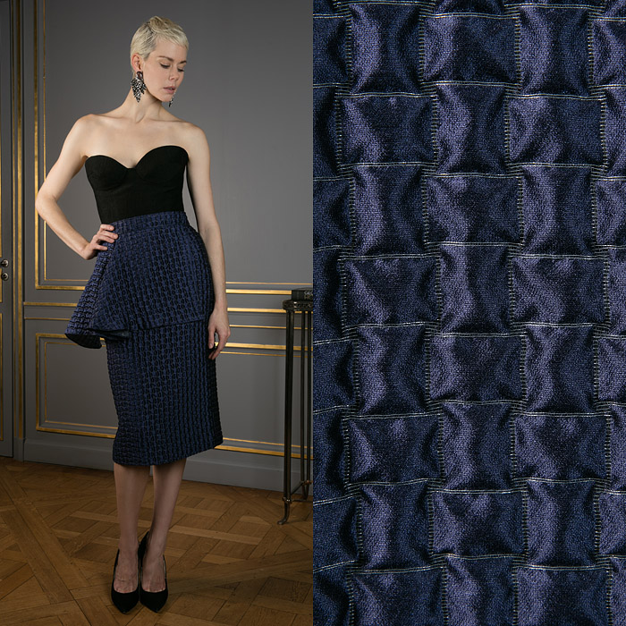 Navy blue skirt with a frill